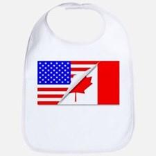 United States and Canada Flags Combined Bib
