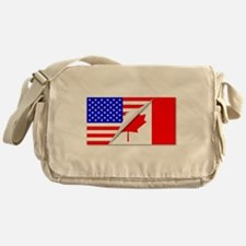 United States and Canada Flags Combi Messenger Bag