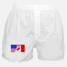 United States and Canada Flags Combin Boxer Shorts