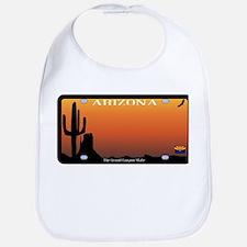 Arizona State License Plate Bib