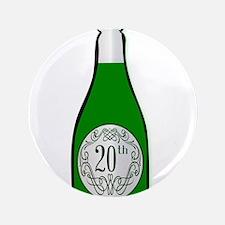 20th Celebration Wine Bottle Button