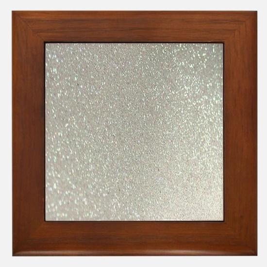Unique Sparkle Framed Tile