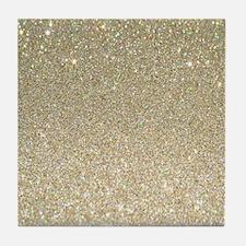 Funny Glittery Tile Coaster