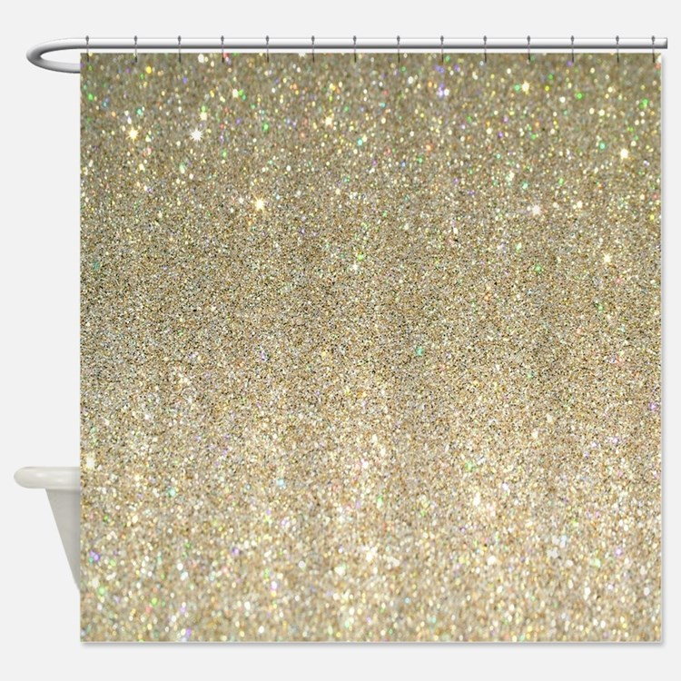 Gold Glitter Shower Curtains Gold Glitter Fabric Shower Curtain Liner