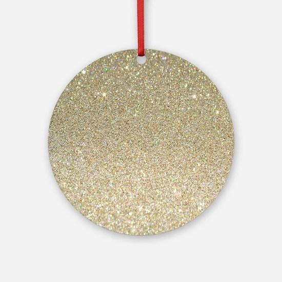 Unique Glittery Round Ornament