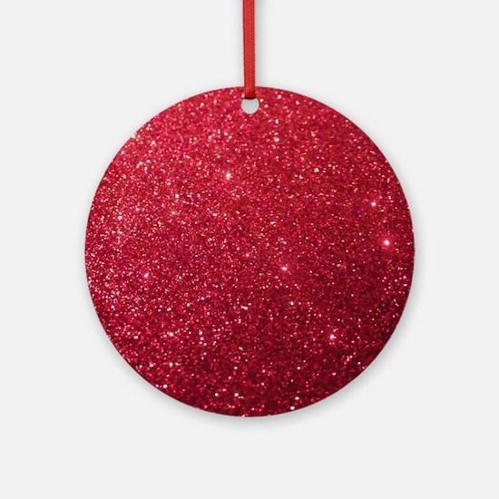 Glittery Round Ornament