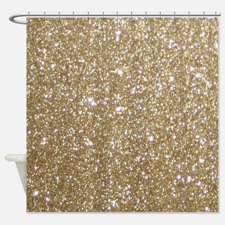 Shiny Gold Glitter Shower Curtains Shiny Gold Glitter Fabric Shower Curtain Liner