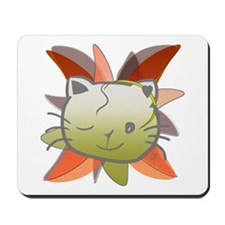"""Green cat (1)"" Mousepad"