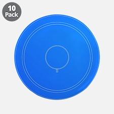 """Hi Fi Speaker Cone Blueprint 3.5"""" Button (10 pack)"""