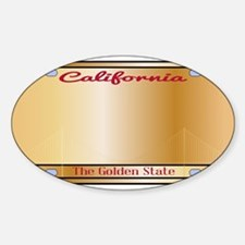 California License Plate Decal