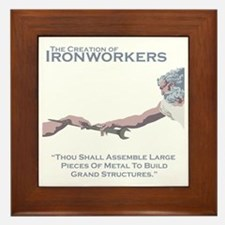 The Creation of Ironworkers Framed Tile