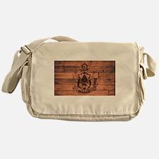 Maine State Flag Brand Messenger Bag
