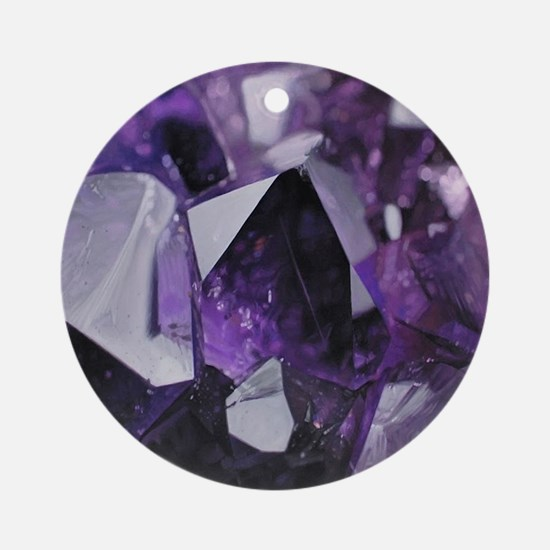 Cool Amethyst crystal gemstone Round Ornament