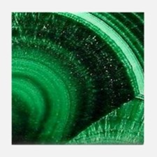 Green chic Tile Coaster
