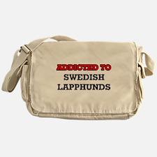 Addicted to Swedish Lapphunds Messenger Bag