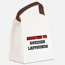 Addicted to Swedish Lapphunds Canvas Lunch Bag