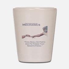 The Creation of Mechanics Shot Glass