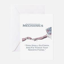 The Creation of Mechanics Greeting Card