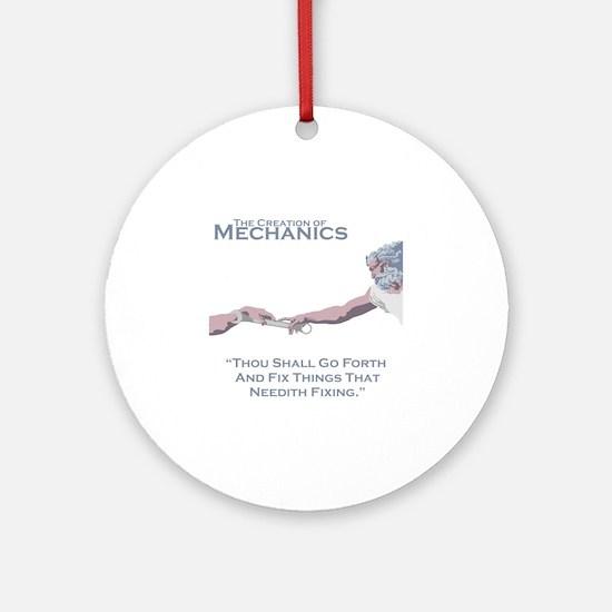 The Creation of Mechanics Round Ornament