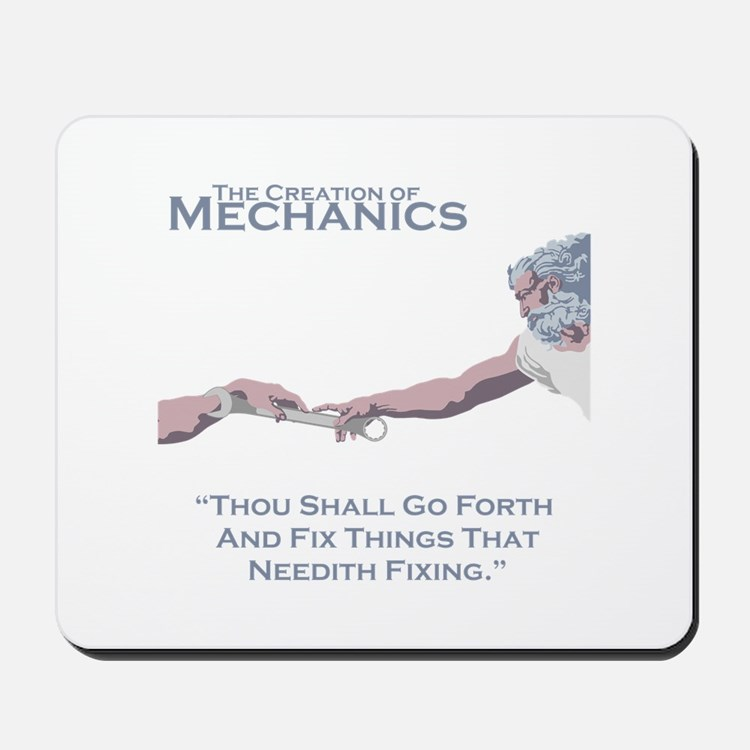 The Creation of Mechanics Mousepad