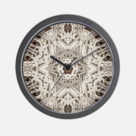 Cute Lace doily Wall Clock