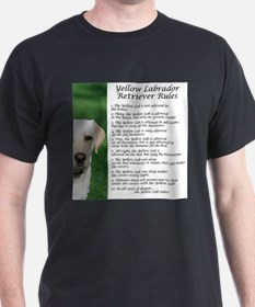 Yellow Lab Rules T-Shirt