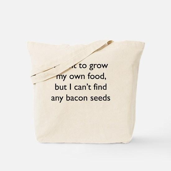 Cute Funny bacon design Tote Bag