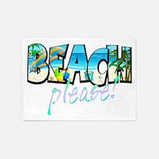 Kids Beach Please! 5'x7'Area Rug