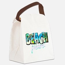 Kids Beach Please! Canvas Lunch Bag