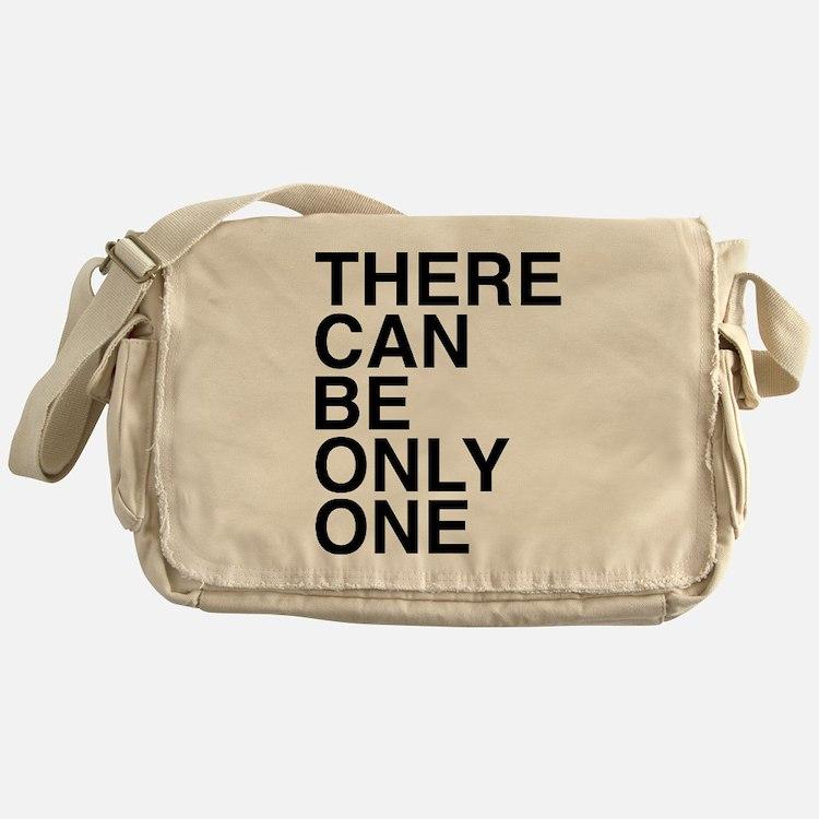 Only One-Helvetica-Dark Messenger Bag