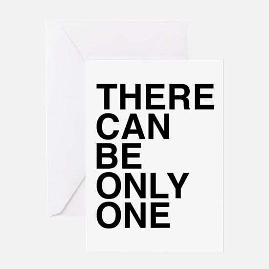 Only One-Helvetica-Dark Greeting Cards