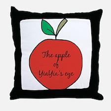 Apple of YiaYia's Eye Throw Pillow