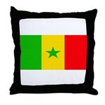Senegal Blank Flag Throw Pillow
