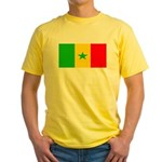 Senegal Blank Flag Yellow T-Shirt