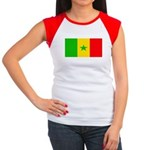 Senegal Blank Flag Women's Cap Sleeve T-Shirt