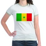 Senegal Blank Flag Jr. Ringer T-Shirt