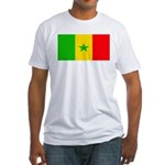Senegal Blank Flag Fitted T-Shirt