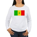 Senegal Blank Flag Women's Long Sleeve T-Shirt