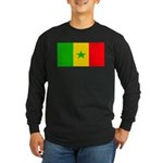 Senegal Blank Flag Long Sleeve Dark T-Shirt