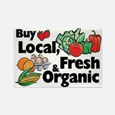 Buy Local Fresh & Organic Rectangle Magnet