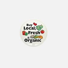 Buy Local Fresh & Organic Mini Button