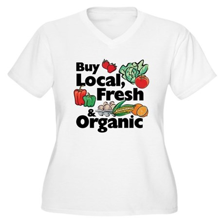 Buy Local Fresh & Organic Women's Plus Size V-Neck