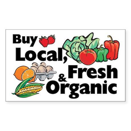 Buy Local Fresh & Organic Rectangle Sticker