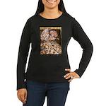 Teager Cap Pigeon Women's Long Sleeve Dark T-Shirt