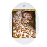 Teager Cap Pigeon Oval Ornament