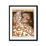Teager Cap Pigeon Framed Panel Print
