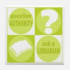Question Authority Tile Coaster