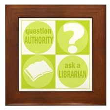 Question Authority Framed Tile
