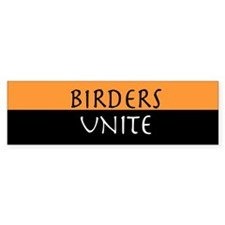 Birders Unite Yellow Bumper Bumper Sticker