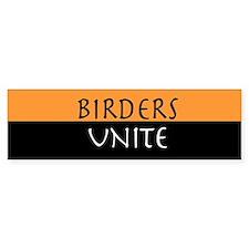 Birders Unite Yellow Bumper Bumper Sticker
